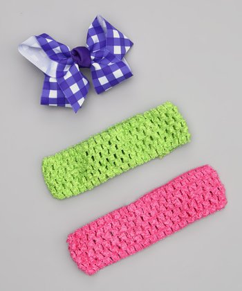 Blue & Pink Headband Set