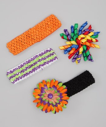 Rainbow Polka Dot Korker Clip Set