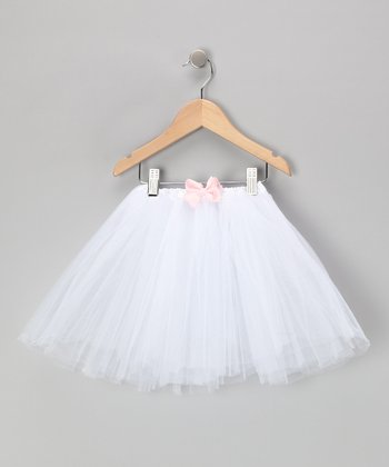 White & Pink Flower Tutu Set - Toddler & Girls