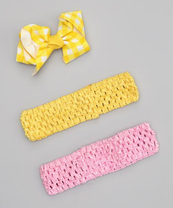 Yellow & Pink Headband Set