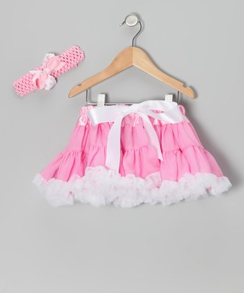 Pink Pettiskirt & Headband - Infant, Toddler & Girls