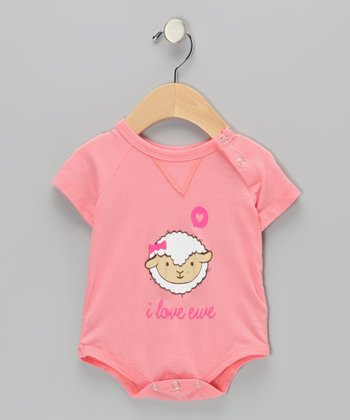 Dusty Rose 'I Love Ewe' Bodysuit - Infant