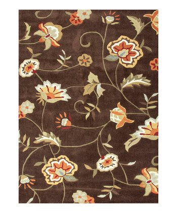 Beige & Brown Wildflower Rug