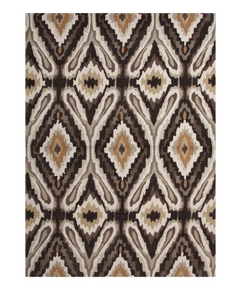 Black & Yellow Transitional Tribal Rug