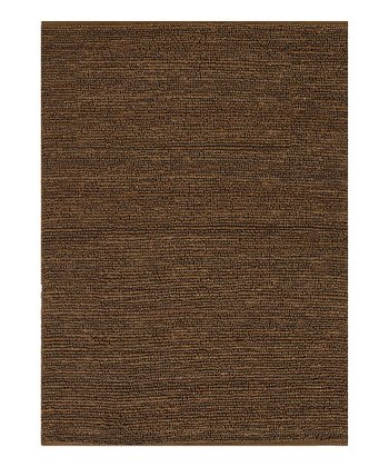 Brown Natural Jute Solid Rug