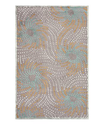 Teal & Gray Starburst Rug