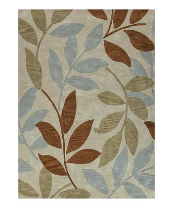 Brown Charming Leaf Rug