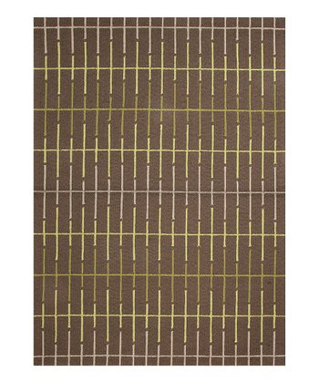 Light Leaf Green Geometric Indoor/Outdoor Rug