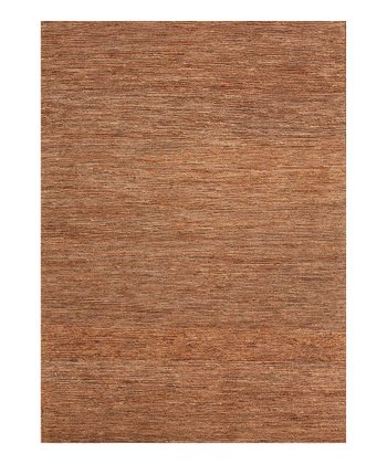 Natural Beige & Brown Blend Hemp Solid Rug