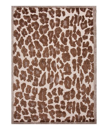 Soft Gold Leopard Rug