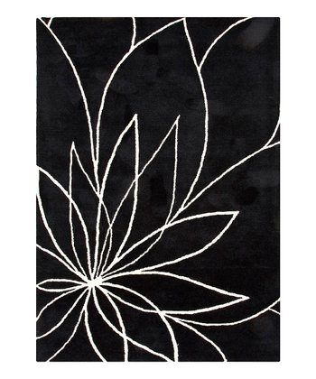 Modern Floral Pattern Tufted Wool Rug
