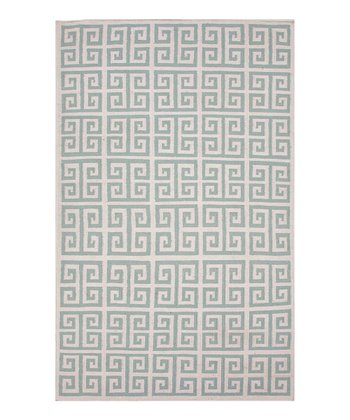 Sea Gray Roman Square Wool Rug