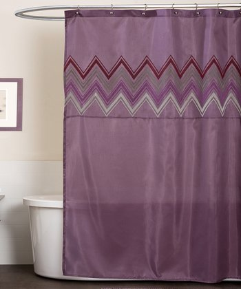 Plum Myra Shower Curtain