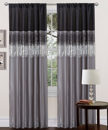 Black & Gray Curtain Panel