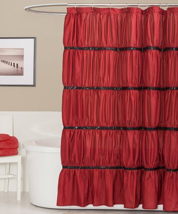 Red Twinkle Shower Curtain