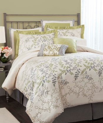 Green Joslyn Queen Comforter Set