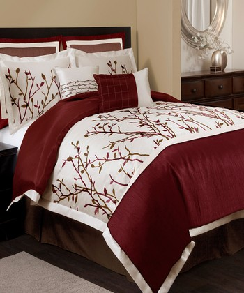Red Nature Medley Comforter Set
