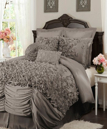 Gray Lucia California Comforter Set