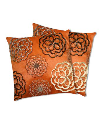 Orange Covina Down Throw Pillow - Set of Two