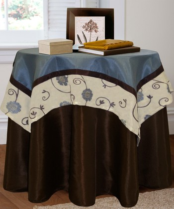 Blue Royal Garden Tablecloth & Topper