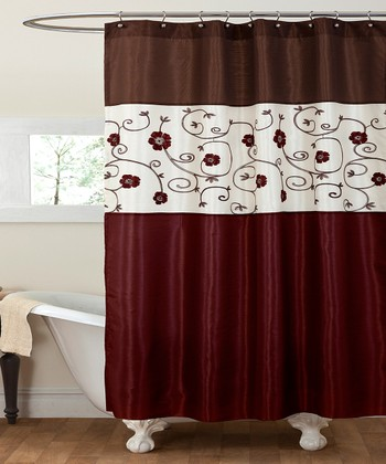 Red Royal Garden Shower Curtain
