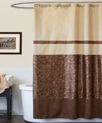 Brown Croc Shower Curtain