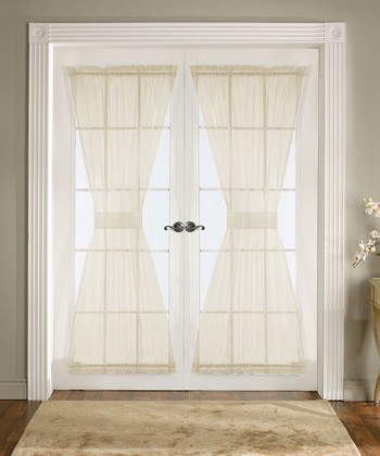 Ivory Breeze Door Curtain Panel - Set of Two