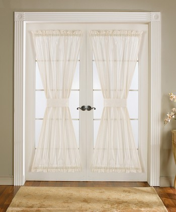 Ivory Sonora Door Curtain Panel - Set of Two
