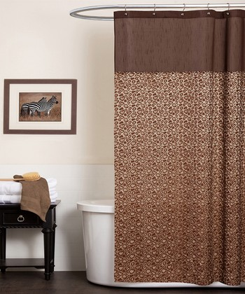 Brown Leopard Shower Curtain