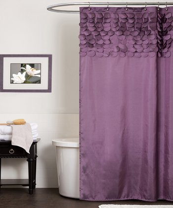Purple Lillian Shower Curtain