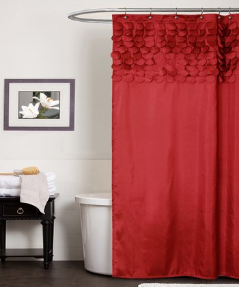 Red Lillian Shower Curtain