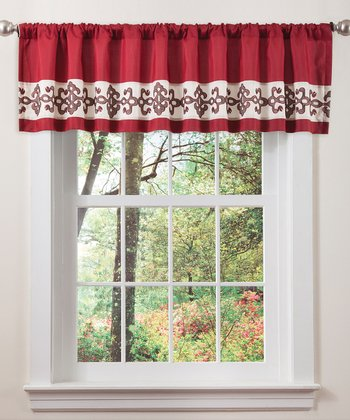 Red & Chocolate Sienna Valance