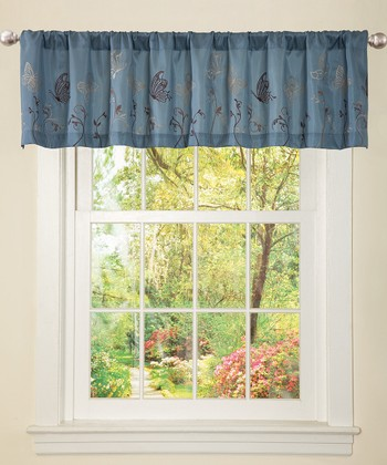 Blue & Brown Butterfly Dreams Valance