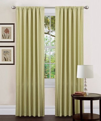 Celery Luis Curtain Panel - Set of Two