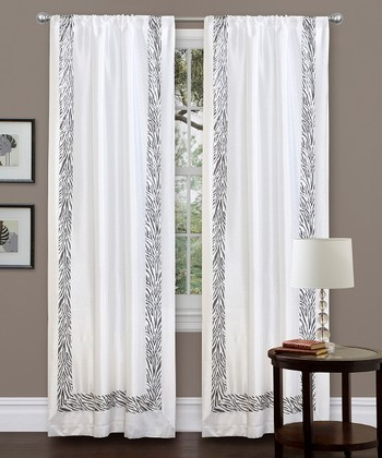 Gray Urban Savanna Curtain Panel