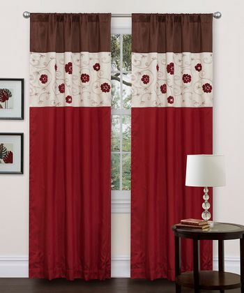 Red Royal Embrace Curtain Panel