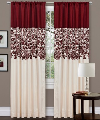 Red Estate Garden Curtain Panel