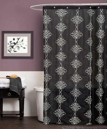 Black Celina Shower Curtain