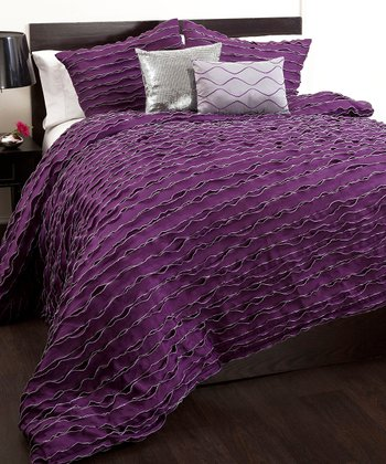 Purple Modern Chic Comforter Set