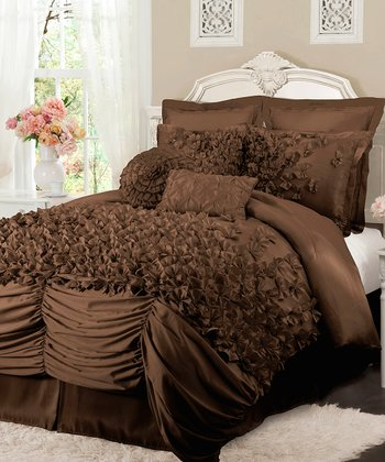 Chocolate Lucia Comforter Set