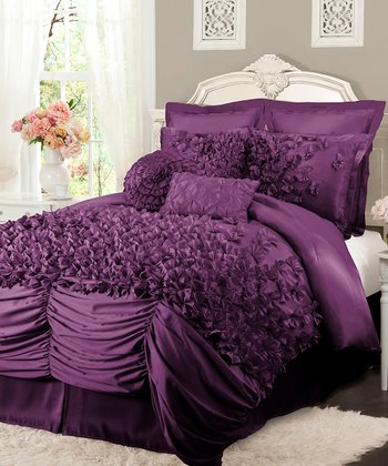 Purple Lucia Comforter Set