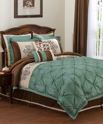 Sea Green Abigail King Comforter Set
