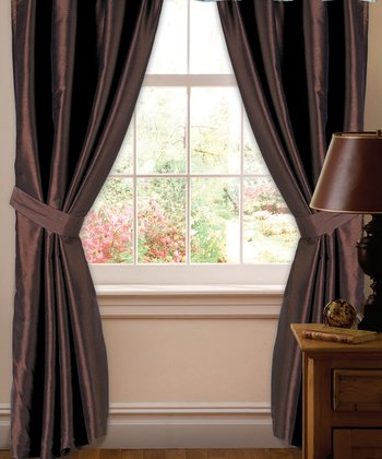 Brown Abigail Curtain Panel