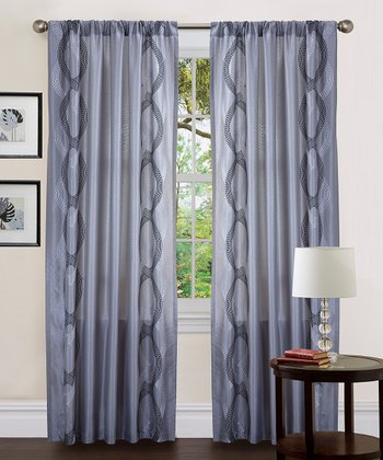 Gray Talon Curtain Panel