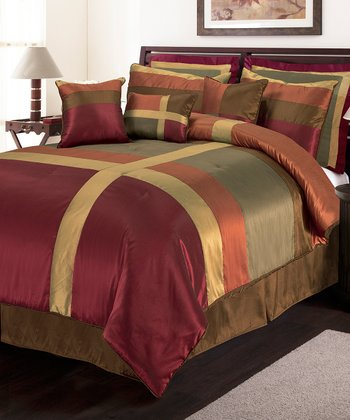 Red & Gold Iman Comforter Set