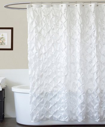 White Quartet Shower Curtain