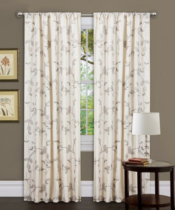 Beige Garden Suite Curtain Panel