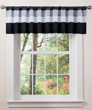 White & Black Iman Valance