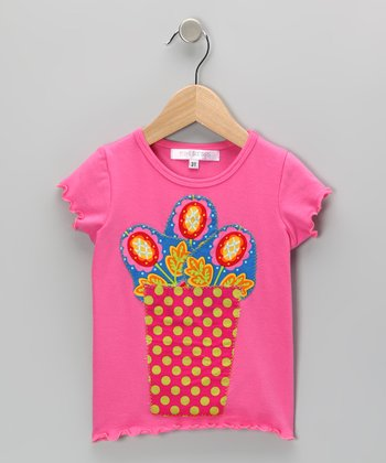 Fuchsia Flower Vase Tee - Infant, Toddler & Girls