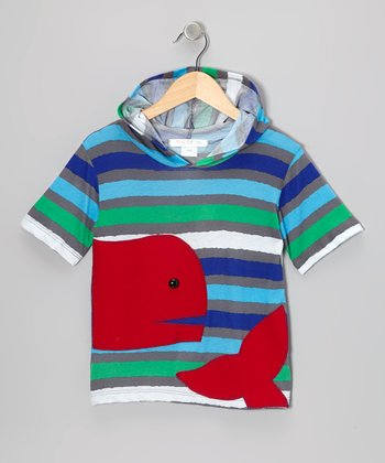 Teal & Red Stripe Whale Tee - Infant & Kids